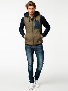 Solomon Waistcoat - Suit - Army Green - Jackets And Coats - Clothing - Men - Nelly.com