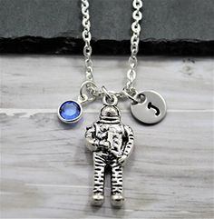#AstronautSuit Astronaut Suit, Astronaut Costume, Birthstones, Washer Necklace, Initials, Personalized Items, Pendant, Gifts, Accessories