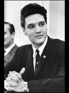 Elvis during a press interview.