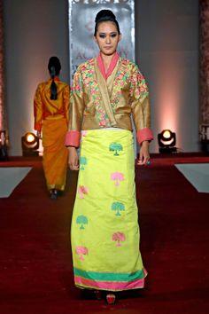 Ritu Kumar's new Bhutan inspired collection Oriental Fashion, Asian Fashion, Oriental Style, Bhutan, Tibetan Clothing, Ritu Kumar, Ethnic Wear Designer, Folk Fashion, Indian Couture