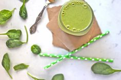 Beginner's Green Smoothie: Peanut Butter & Banana   Pick Up Limes   Nourish the Cells & the Soul