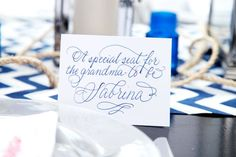 nautical baby shower place settings