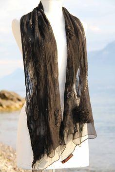 Felt shawl Shawl, Creations, Felt, Fashion, Moda, Felting, Fashion Styles, Feltro, Fashion Illustrations