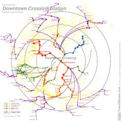 time mapping the T from downtown crossing