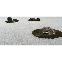 Ryōan-ji is a Zen temple located in northwest Kyoto Japan. [Zen temples] embody the commitment that is needed to preserve beauty through daily effort. Their pebbled white gardens can be taken as a symbol of this principle of preservation.  Kenya Hara. White (Lars Müller Publication) by kaseito #currentmood by odetothings