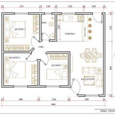 Bungalow Floor Plans, Apartment Floor Plans, House Floor Plans, 4 Bedroom House Designs, Three Bedroom House Plan, Sims 4 House Design, Small House Design, House Layout Plans, House Layouts