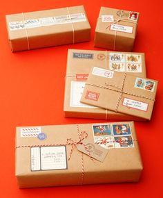 """DIY: How to make parcels """"from the North Pole."""" Lovely and easy."""