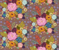 Folksy Floral Garden fabric by alyssaray on Spoonflower - custom fabric