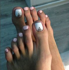 We have found the Best Toe Nail Art! Below you will find 53 Best Toe Nail Art Designs for Keeping your toes polished is a must, especially during the warmer seasons because you are likely wearing open toed shoes or flip flops. Being creative with yo Simple Toe Nails, Pretty Toe Nails, Cute Toe Nails, Summer Toe Nails, Pretty Toes, Summer Pedicures, Glitter Toe Nails, Cute Pedicures, Cute Toes