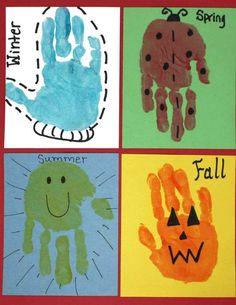 handprints for kindergarten - Click image to find more Kids Pinterest pins