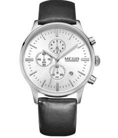 Pánské značkové luxusní hodinky Megir černobílé Na tento produkt se  vztahuje nejen zajímavá sleva 3d5ece0352