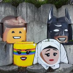 @ontheroadkiwis posted to Instagram: Having spent the day at Wainuiomata I stopped in Seaview to check out the concrete blocks that the street artist Block Vandal has painted.  They are so cool. . #ontheroadkiwis #nzmustdo #artistic #kiwi_photos