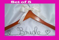 Wedding party hanger  bridal hanger  by HangingMemories4ever, $64.95