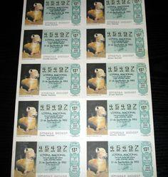 4,00€ · Loteria Nacional-recipiente forma puma-1985 · bloque de diez decimos del año 1985   -recipiente en forma puma- 37-85250 ptas       en perfecto estado    Gastos envio incluidos  Nacional · Aficiones y ocio > Coleccionismo > Loterías