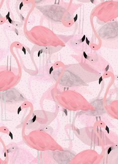 Flamingo Pattern Art Print - Georgiani Paraschiv