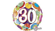 Happy Birthday Balloons Holographic Spots Party Helium Foil Balloon NEW 30th Birthday Balloons, Happy 30th Birthday, Foil Balloons, Latex Balloons, Balloons Online, Balloon Shop, Balloon Delivery, Colourful Balloons, Balloon Bouquet