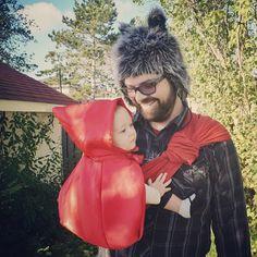 Red Riding Hood and Wolf // via @alixandra c on Instagram #sakurabloom #babywearing