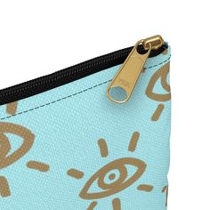 Gold Eye Accessory Pouch | dfzartstudio