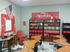 Teaching Crazy Eights Blog Readbox, Middle School Language Arts, 8th Grade, Movie Theme Classroom