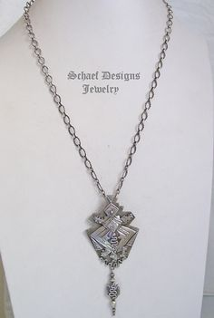 Teresa Archibeque sterling silver hand stamped horn toad pendant & necklace | Schaef Designs | New Mexico