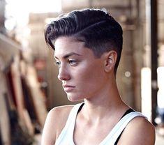 Butch Haircuts, Lesbian Hair, Short Hair Cuts, Short Hair Styles, Androgynous Haircut, Fade Haircut, Gorgeous Hair, Hair Type, Hair Goals