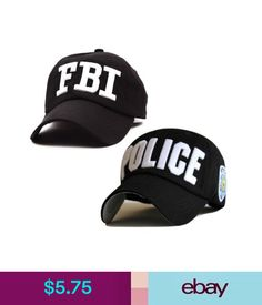 a55fb79028069 Hats Police Fbi Embroidered Baseball Caps Cotton Snapback Hats For Men  Women Bone Cap #ebay