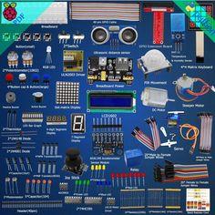Adeept Ultimate Starter Learning Kit for Raspberry Pi 3 Pi 2 Model B/B+ Python #DoesNotApply