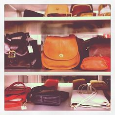 A selection of vintage Coach bags from the 1970's #ThrowbackThursday #tbt