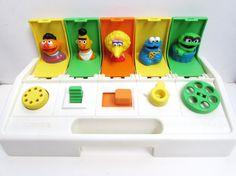 Playskool 1985 Sesame Street PoppinPals Vintage by TimelessToyBox