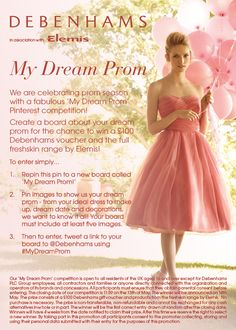 Enter our competition! Dream Prom, My Dream, Competitions Uk, Debenhams, Cheryl, Dreaming Of You, Birth, Tulle, Ballet Skirt