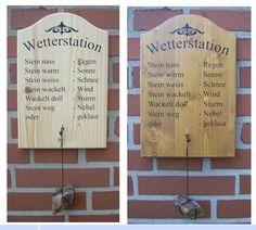 Witzige Wetterstation - Dekorationen * Türschilder * Geschenke