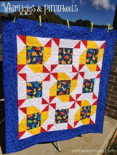 Whirligigs And Pinwheels Quilt {tutorial}