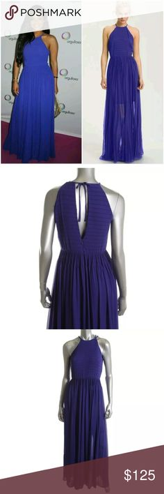 French Connection Purple Maxi Halter Dress NWT US2 A gorgeous purple halter maxi dress from French Connection that is new with tags. Size US 2. Shell: 100% polyester, lining 100% polyester. Perfect to wear for a special  night on the town or sophisticated day event. Pair with a jean jacket for a more casual look. French Connection Dresses Maxi