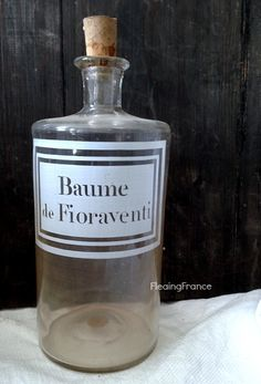 FleaingFrance......Apothecary Bottle - Baume di Fioraventi