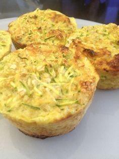 Recette muffins flocon d'avoine/ courgettes / oignons ... 3 pp (0pp en JSC)