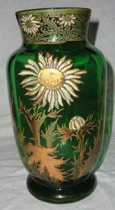 A Legras Enameled Glass Vase