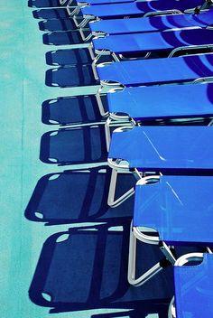 Blue colour palette- pool lounges