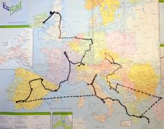 """Backpacking route through Europe! Original Pinner says: """"Actual route I took through Europe. It changed my life."""""""