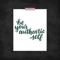 Be Your Self Print Series - www.randomolive.com
