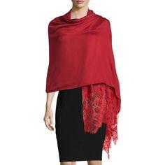 tonal lace shawl - Red Valentino rnzh06