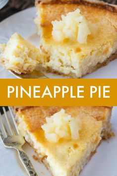 Pineapple Pie – Creamy, smooth and tropical! This pie is easy to prepare and gua… Pineapple Pie – Creamy, smooth and tropical! This pie is easy to prepare and guaranteed to be loved by all. Pineapple Pie Recipes, Pineapple Desserts, Pineapple Smoothies, Tart Recipes, Sweet Recipes, Cooking Recipes, Köstliche Desserts, Delicious Desserts, Pastries