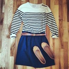 Stripes and navy. #fall