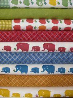 cute bundle from Fabricworm! Would be great for a baby quilt Pretty Patterns, Color Patterns, Fabric Combinations, Custom Quilts, Fabulous Fabrics, More Cute, Fat Quarters, Quilting Projects, Fabric Material