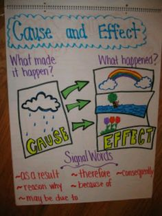 Cause/Effect anchor chart