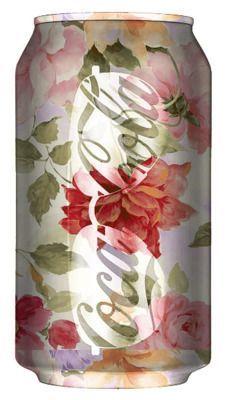 coca cola goes floral