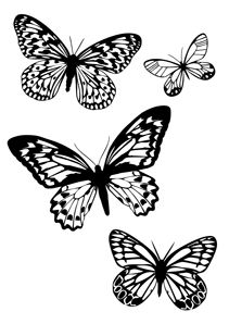 Printable Butterfly Coloring Page For Kids