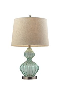 Smoked Glass Table Lamp - Pale Green  by Industrial Rustic Lighting on @HauteLook