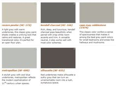 "I like ""Kendall Charcoal"" and ""Metropolitan,"" since cool-toned grays are my favorite grays. 