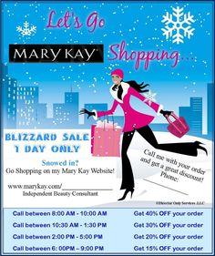 Blizzard Sale Idea www.marykay.com/vmcclain1 www.facebook.com/vikkimarykayconsultant
