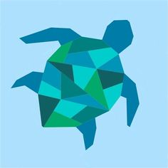 I'm crushing on geometric designs at the moment and had a few requests for a sea turtle. So here it is! The pattern makes a 12